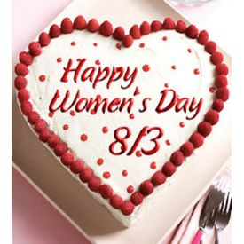 woman day heart shaped cake 1 Kg