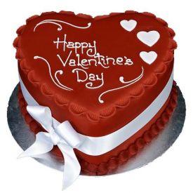 Valentine Red Heart Cake