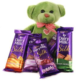 Basket of Dairy Milk Silk