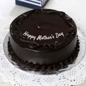 Round shape dark chocolate cake