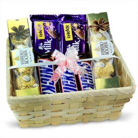 Basket Of Mixed Chocolates
