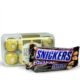 Ferrero rocher with Snikers