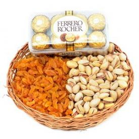 Mixed dry fruits with ferrero rocher