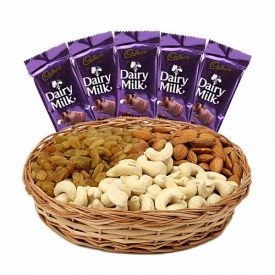 Dry Fruits and dairy milk