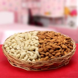 Basket of cashew and almonds