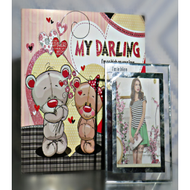 Photo frame with Greeting card