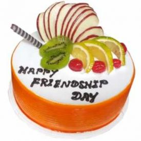 Friendship day vanilla cake