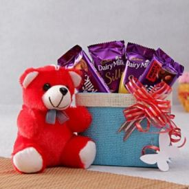 Choclates with soft toy