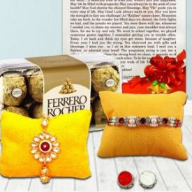 Designer Rakhi With Ferrero Rocher