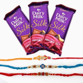 Silk With Rakhi