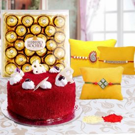 Red Velvet, Rocher With Rakhi