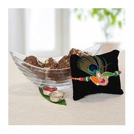 Peacock Rakhi with Doda Burfi