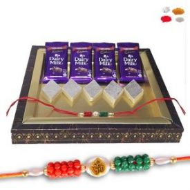 Rakhi With Dairy Milk Combo
