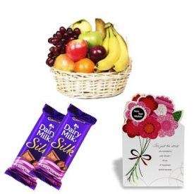 Mixed Fruits With Dairy Milk Silk
