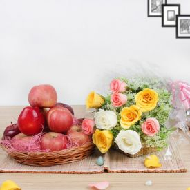 Apple With Mixed Roses