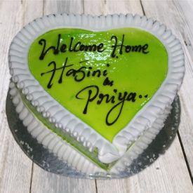 Heart Shape Kiwi Cake