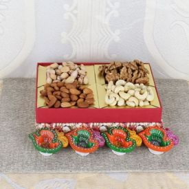 Mixed Fruits With Diyas