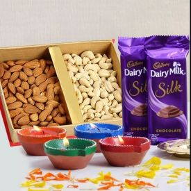 Dry fruits with Silk