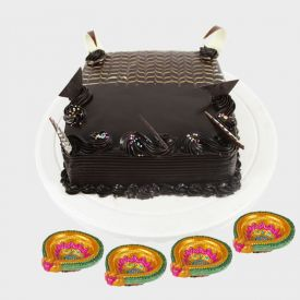 Chocolate truffle cake With Diyas