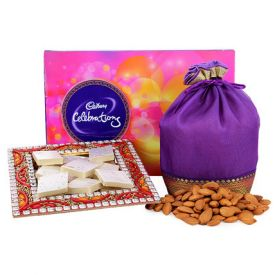 Dry Fruits With Diya Sweets