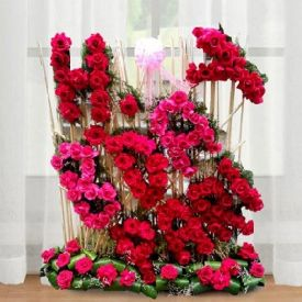 Personalized Flowers Arrangement