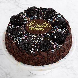 Round Brownie cake