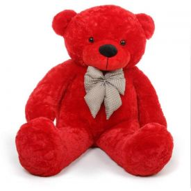 5 feet Red teddy bear