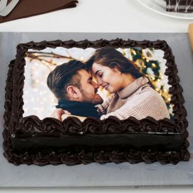 Chocolate Truffle Photo Cake