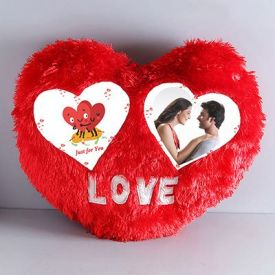 Heart Shape Personalized Pillow