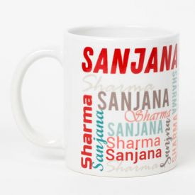 Multicolored peronalized name Mug