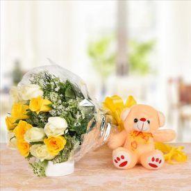 Roses N Teddy Bear