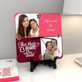 Beautiful Personalized Clock for Mom