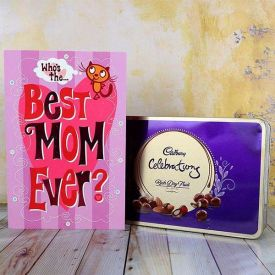 Greeting Card And Chocolate Gift Hamper