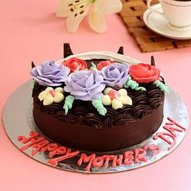 Floral Truffle Cake For Mom