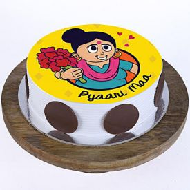 Pyaari Maa Pineapple Photo Cake