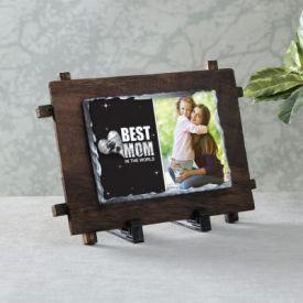 Best Mom Personalized Stone Photo Frame