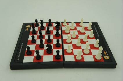Folding chess board game