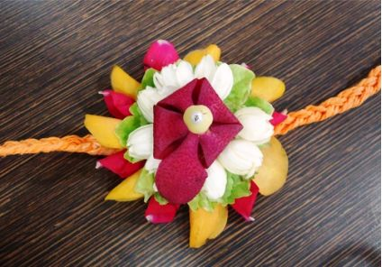 Bright color floral Rakhi