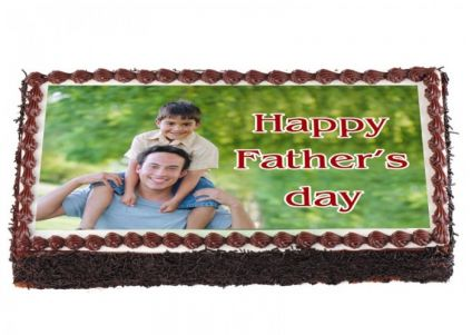 Happy Fathers Day Photo Cake