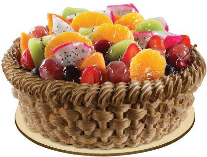 Fondant Chocolate Fruit Cake