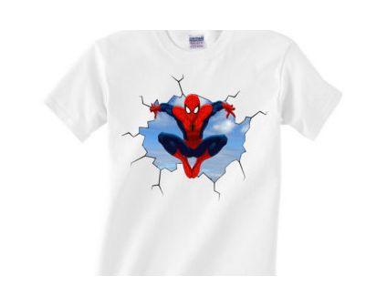 My Hero My Spiderman White T-Shirt