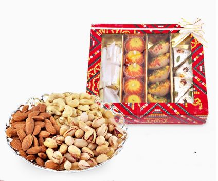 Mix Sweets With Mix Dry Fruits