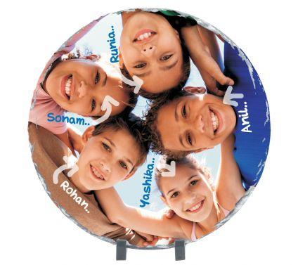 Round Shaped personalized Photo Stone