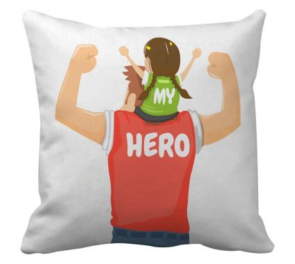 Gifts For Father From Daughter printed Cushion(12 Inch X 12 Inch,Multicolor) with Inner Filler
