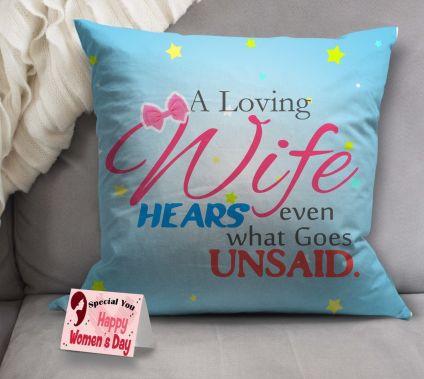 Woman's day cushion