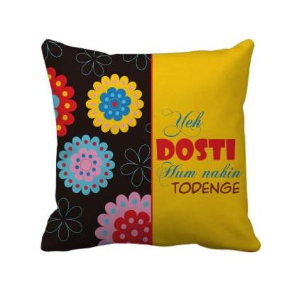 Friendship Day Cushion Cover With Filler