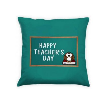 Teachers Day Green Cushion