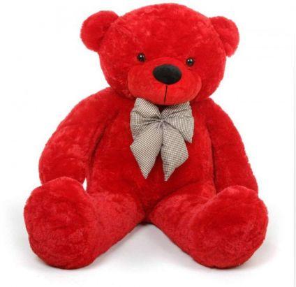 5 feet Red teddy bear