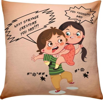 Brother Sister Fighting Cushion