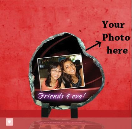 Heart Shaped Photo Stone